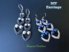 """Adore Heart"" Earrings DIY Beaded Earrings DIY jewelry How to make beaded earrings Diy Jewelry Rings, Diy Jewelry Unique, Diy Jewelry To Sell, Heart Jewelry, Jewelry Making, Diy Jewellery, Fashion Jewelry, Jewelry Findings, Wire Jewelry"
