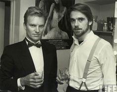 Sting and Jeremy Oh excuse me. Did I interrupt the smolder party?