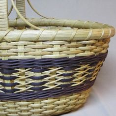 Hand Woven Basket Oval with Wrapped Handle and by DiannesBaskets, $53.00