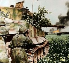 Tiger tank with paratroops.