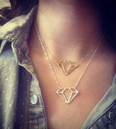 Diamond Shaped Necklace - Brass   Women's Jewelry   Rachel Pfeffer Jewelry   Scoutmob Shoppe   Product Detail