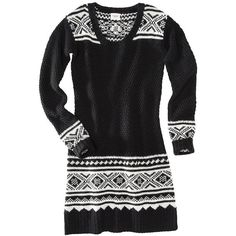 Mossimo Supply Co. Juniors Fairisle Sweater Dress Assorted Colors ($18) ❤ liked on Polyvore