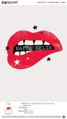 Custom T-Shirt Design and Screen Printing Kappa Delta Canvas, Kappa Delta Crafts, Kappa Delta Shirts, Sorority Recruitment Shirts, Kappa Delta Sorority, Sorority Canvas, Sorority Paddles, Zeta Tau Alpha, Sorority Crafts
