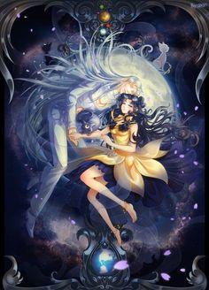 "10/3 How cool is that? ✫★ Admin Sailor Saturn ★✫  ""月之眠"" by 207 二零七 Sourcelink: http://www.pixiv.net/member_illust.php?mode=medium&illust_id=45370205"