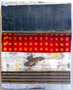 encaustic and mixed media, Amy Weil  SOLD