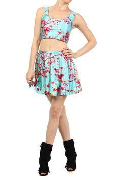 AZ Iced Tea Skater Skirt by Poprageous