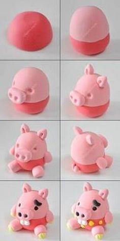 7 Ideas De Figuras Fáciles Para Modelar Figuritas Pasta Das Plastilina