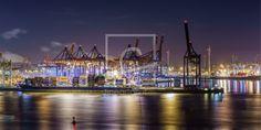 Hafen Hamburg as a canvas print 11641878 San Francisco Skyline, Canvas Prints, Fine Art, Travel, Pictures, Lights, Viajes, Photo Canvas Prints, Destinations