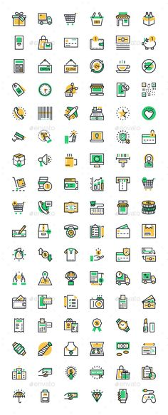 Designing a shopping or commerce website or a mobile app? These 100  Shopping and Commerce Icons will be perfect for all your shop