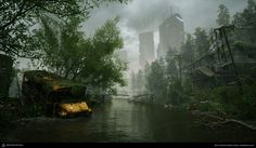 Using Water in Environment Production Ehsan Ebrahimzadeh Post Apocalyptic City, Futuristic Background, Game Environment, Post Apocalypse, Photorealism, 3d Artist, Shadowrun, Artist Gallery, End Of The World