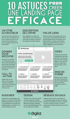 [Infographie] 10 astuces pour créer une landing page efficace #SEO #digital #marketing