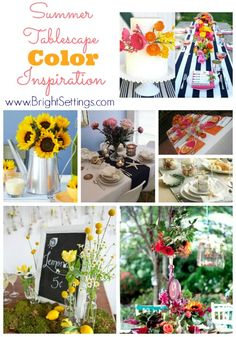 Summer Tablescape Color Inspiration