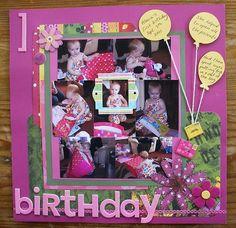 Bildergebnis für scrapbooking first birthday