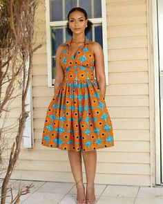 @True.fond Short African Dresses, Latest African Fashion Dresses, African Print Dresses, African Print Fashion, African Attire, African Wear, African Print Dress Designs, Traditional African Clothing, Fashion Women
