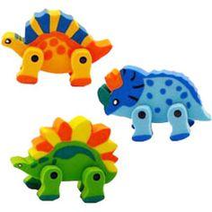 3D Dinosaur Erasers