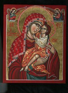 """ΜΡ.ΘΥ__Παναγία """" η Γιατρισσα"""" ( Miraculous Icon of Panagia Giatrissa (""""The Healer""""). Mother of God with The Child Iisus. Byzantine icon handmade painted."""