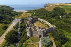 MANOBIER CASTLE. Enjoy a visit to the castle and it's garden, then take a walk down to the stunning beach.