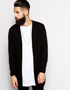 ASOS cardigan hair beard Style men jewelry