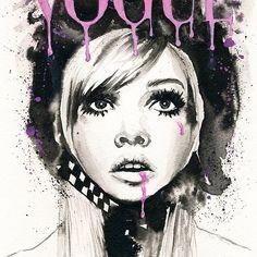Vogue Paris #vogue #paris #illustration #art #fashionillustration #drawing