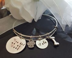 Pet Love bracelet,  You had me at Woof! Bangle bracelet Personalized Hand Stamp