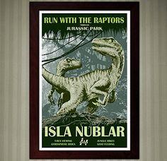 Jurassic Park - Isla Nublar Travel Poster - 11x17 ** Visit the image link more details. (Amazon affiliate link)