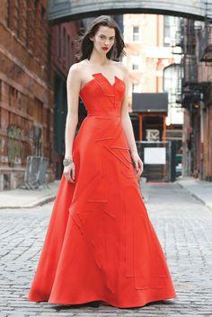 Carolina Herrera's appliquéd silk faille ballgown; Badgley Mischka cuff [Photo by Kyle Ericksen]