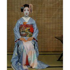 Miyako Odori 2016: maiko Mamefuji during a tea ceremony by @naranofuku on Instagram