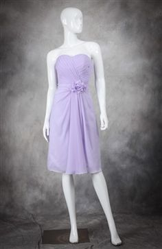 Ruching Wrapped Chiffon Bridesmaid Dress with Flower Belt