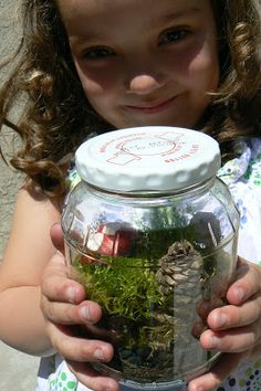 The Magic Onions :: A Waldorf Inspired Blog: Moss Garden in a Jar.