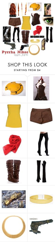 """RWBY-Pyrrha Nikos"" by thedrakonette ❤ liked on Polyvore featuring Pyrrha, Annarita N., CÉLINE, Hai, Commando, STELLA McCARTNEY, Dsquared2 and INDIE HAIR"
