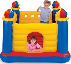 Intex Kids Inflatable Jump-O-Lene Ball Pit Castle Bouncer w/ Air Pump & Balls Trampolines, Inflatable Bounce House, Inflatable Bouncers, Pula, Ball Pit Castle, Bouncer For Kids, Kids Trampoline, Tv Led, Mattress On Floor