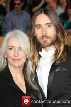 oh that hair - hers.  I've got 10 years to transition from coloring to this, she gives me hope.  constance-leto-jared-leto-