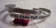 Mother and daughter hand stamped cuff by glamgirlspretties on Etsy, $24.00