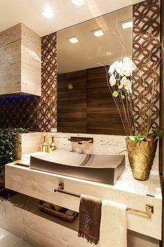 1 Badezimmer Deko Moderne Bader Badezimmer In Weis Und Braun Gestalten