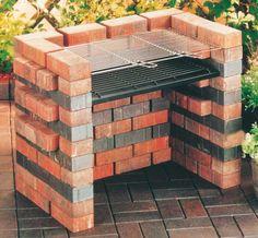 DIY Brick Charcoal Grill