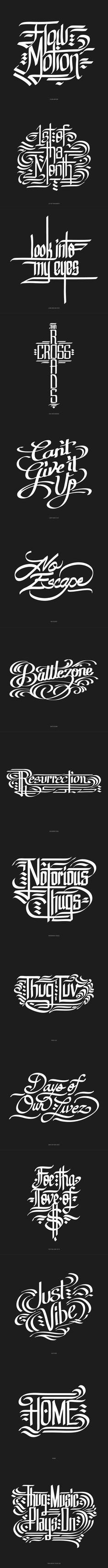 #font #typography #lettering Mouse Calligraphy: Bone Series on Typography Served