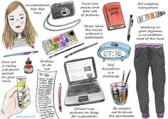 How To Live Like An Illustrator - mostly true, especially the self-discipline part!