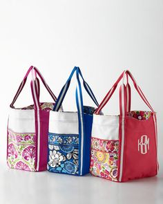 Personalized Large Colorblock Tote by Vera Bradley at Horchow.