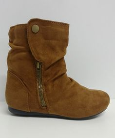 This Tan Klein Slouch Ankle Boot by Step Up Shoes is perfect! #zulilyfinds