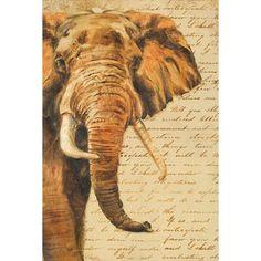 painting Ideas Elephant - Madagascar Safari III Canvas Art Patricia Pinto x Elephant Love, Elephant Art, Elephant Images, African Elephant, Giraffe, Elephant Illustration, Brain Illustration, Decoupage, Garden Flag Stand