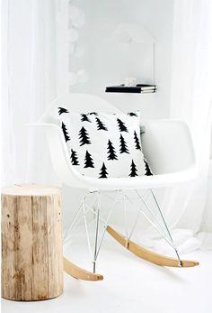 Rocking scandi style chair.