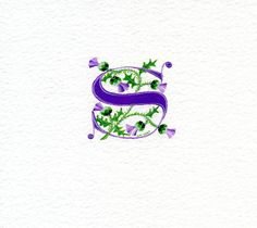 Initial letter 'S'  handpainted in purple with by claremccrory27, £24.00