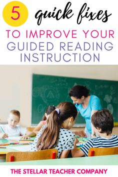 This blog post is all about improving your guided reading instruction! Read this post and find out how to make 5 quick fixes to improve your guided reading instruction! I have 5 things to STOP doing during guided reading and what to do instead! Teaching 5th Grade, 5th Grade Reading, Help Teaching, Teaching Reading, Guided Reading, Reading Resources, Reading Strategies, Reading Comprehension, Reading Workshop