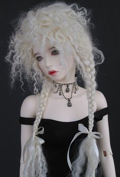 "Hand Made Wig Fitted for Iplehouse SID and MSDs with larger heads (8"") 