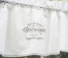 Gardine SHABBY Chic *CACAO PAYRAUD*  von The White Suite auf DaWanda.com