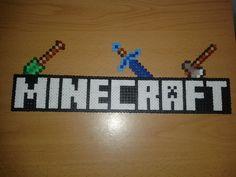 Minecraft Title hama perler beads by Jesusclon on deviantART