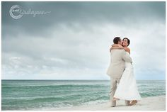wedding photography | beach wedding - an image somewhat similar to one of my own, but you just can't beat the beach for a beautiful bride and groom image!