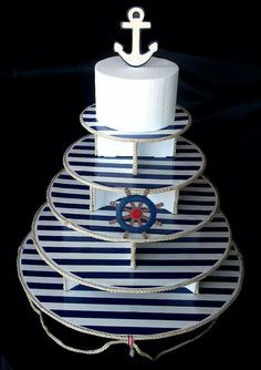 Nautical / Sailor Cupcake Stand 5 tier
