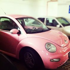 Pink Beetle even though i already have a silver one #alwayswantedpink