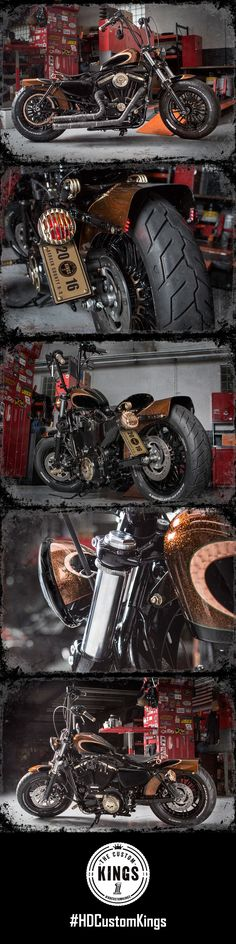 "Bergen Harley-Davidson adds a touch of old school to their Forty-Eight build that lives up to it's name, ""Kickin' Brass"". 